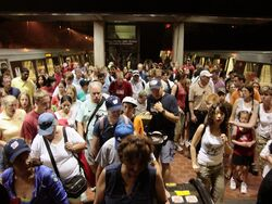 July 4 crowd at Vienna Metro station