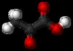 Pyruvic-acid-3D-balls