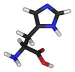 L-histidine-3D-sticks