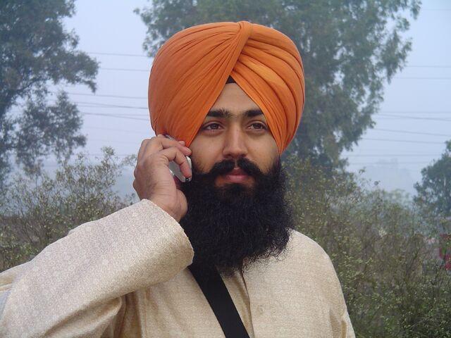 File:Sikh wearing turban.jpg