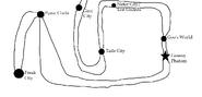 Punic circle railway map