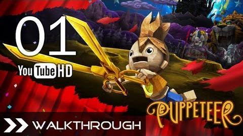 Puppeteer Walkthrough - Gameplay Part 1 (Stolen Away - Act 1 Curtain 1 - Weaver Boss Battle) HD 1080p PS3 No Commentary