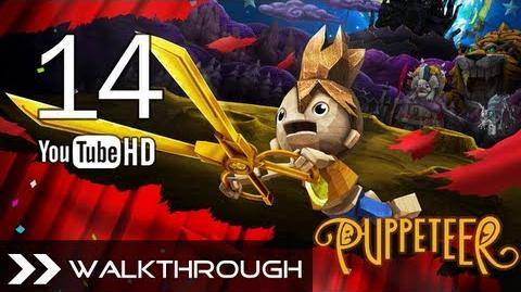 Puppeteer Walkthrough - Gameplay Part 14 (Fear of the Dark - Act 5 Curtain 2 - Pumpkin Boss) HD 1080p PS3 No Commentary