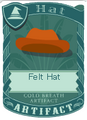 Felt Hat Orange