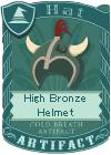 High Bronze Helmet 3