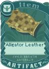 Alligator leather