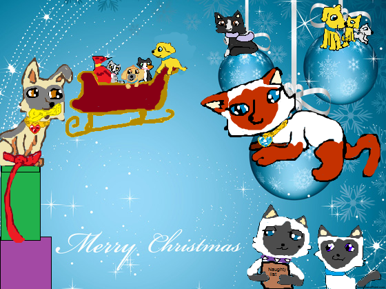 File:Wikia Christmas background with fanon characters.png