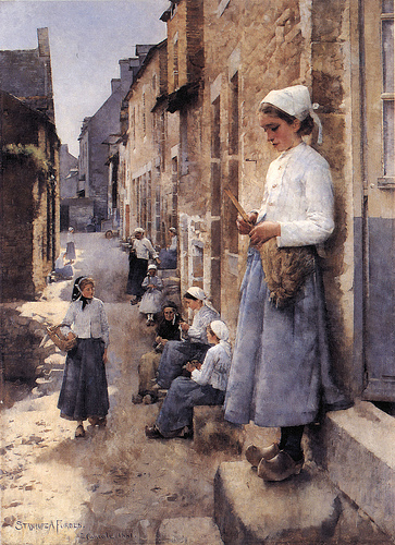 Stanhope forbes- street in brittany