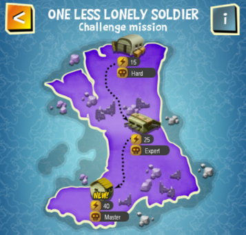 Special Event - ONE LESS LONELY SOLDIER map