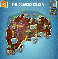 THE DREADED ISLES VI map