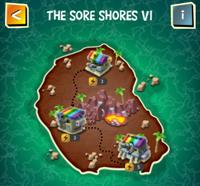 THE SORE SHORES VI map