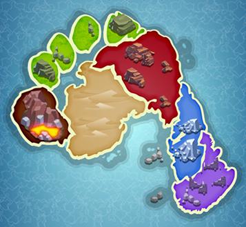 THE SORE SHORES map