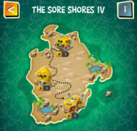 THE SORE SHORES IV map