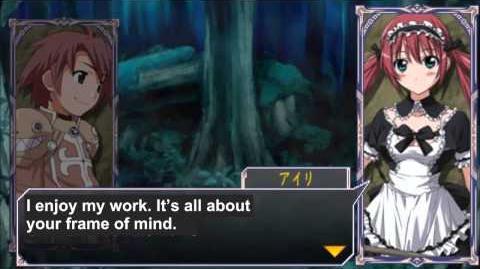 Queen's Gate Spiral Chaos Freetalks Translation Airi (2 of 2) ( kiss scene)