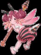 Fire Bee-girl transparent