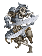 Skeleton Warrior (Thunder) transparent