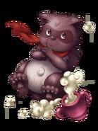 Fire Raccoon transparent