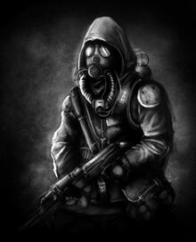 Gas masked soldier concept wip by cyanideexpress-d5gx22r