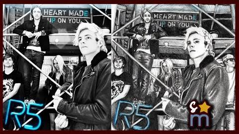 """R5 """"Heart Made Up On You"""" EP Cover Drawing - Shine On Sketches"""
