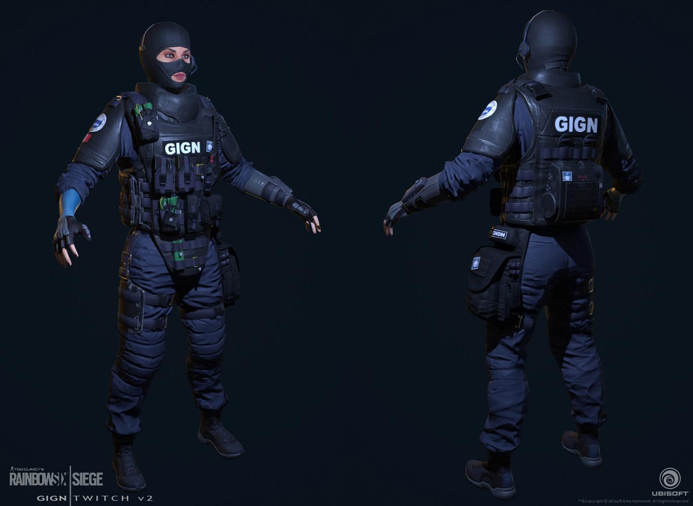 Rainbow Six Siege Gign Operators: Twitch (Design -2) Turn-around (colour).jpg