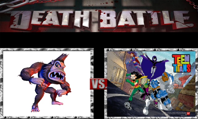 File:DEATH BATTLE Idea - George Vs. The Teen Titans.png