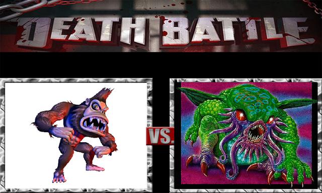 File:DEATH BATTLE Idea - George Vs. Cthulhu.png