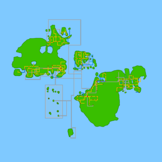 The ingame map of the world.
