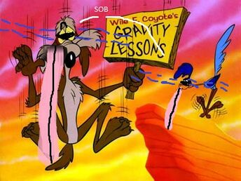 Road Runner and Wile E Coyote sobbing