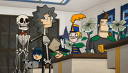 Debbie, Flute Girl, Bucky, Bash, Marlene, and Jerry in Dawn of the Driscoll 2