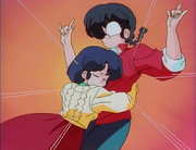 Akane hugs Ranma - Secret Sauce