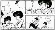 Ranma jumps away - Ranma Reborn