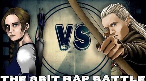 Katniss Everdeen VS Legolas - The 8Bit Rap Battle