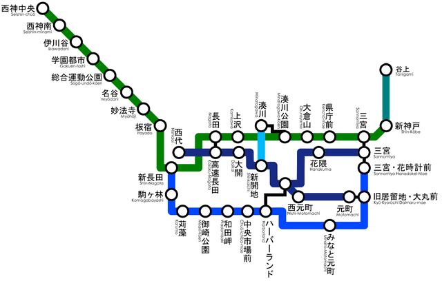 File:Kobe Subway Map.png