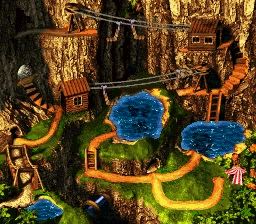 Razor Ridge - World Map - Donkey Kong Country 3