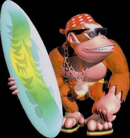 File:Funky Kong Artwork - Donkey Kong Country.png