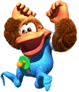 Kiddy Kong Artwork (Donkey Kong Country 3)