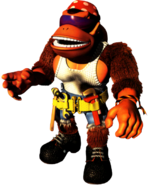 Funky Kong Artwork - Donkey Kong Country 3