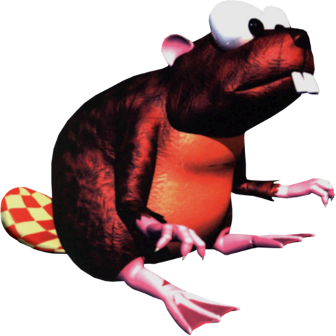 File:Really Gnawty Artwork - Donkey Kong Country.png