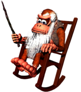 Cranky Kong Artwork - Donkey Kong Country