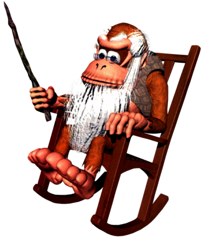 File:Cranky Kong Artwork - Donkey Kong Country.png
