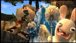 Raving-Rabbids-Travel-in-Time-Toilet-Paper-Race-Trailer 7