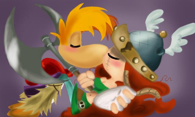 File:Rayman and Barbara XOXO.png