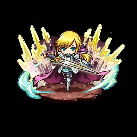 Artunel Bayard Rickenbar (Hero of Roaring Thunder) in the mobile game