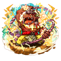 Kichi as a Giga Minoterios during the Hell Week Festival