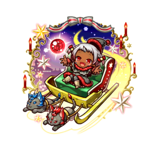 Opushii (Demon Child of the Holy Night) in the mobile game