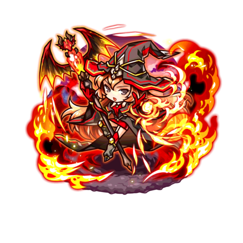 The Witch of Mystic Flame in the mobile game