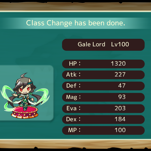 Your MC as a Wind Lord in the mobile game
