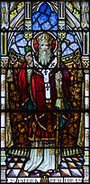Goleen Church of Our Lady, Star of the Sea, and St. Patrick North Wall Fourth Window Saint Patrick Detail 2009 09 10