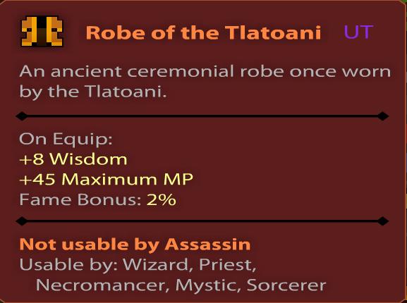 Robe of the Tlatoani Stats