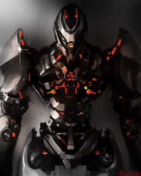 Robot fighter by artworkbitch-d46yh2b